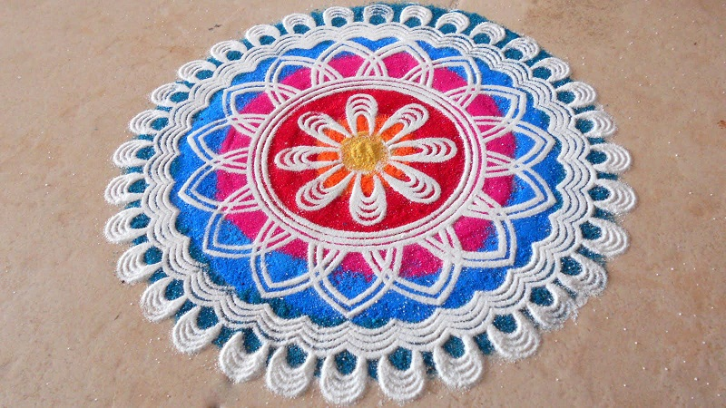 simple rangoli designs for diwali at home