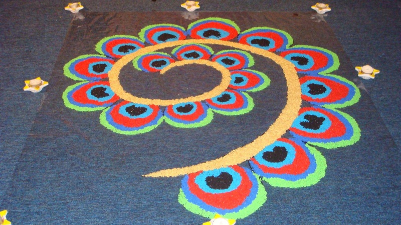 diwali rangoli designs with dots