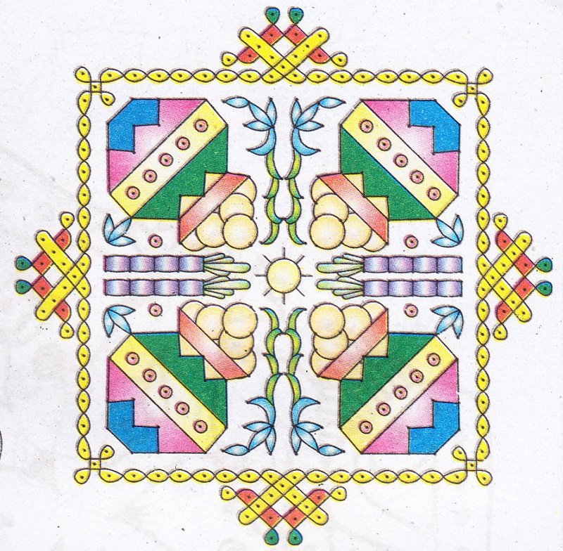 diwali rangoli designs with flowers 2017
