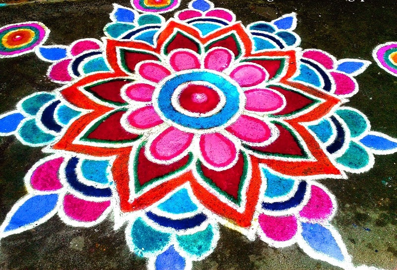Easy and Simple Rangoli for Diwali