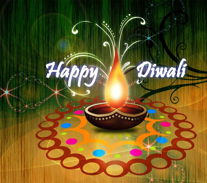 Special Diwali Greetings of Diya Image Wallpaper