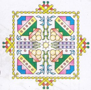 diwali rangoli designs with flowers 2017